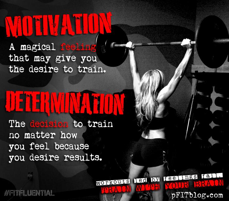 PFIT TIP: Motivated Or Determined? » PfitBlog