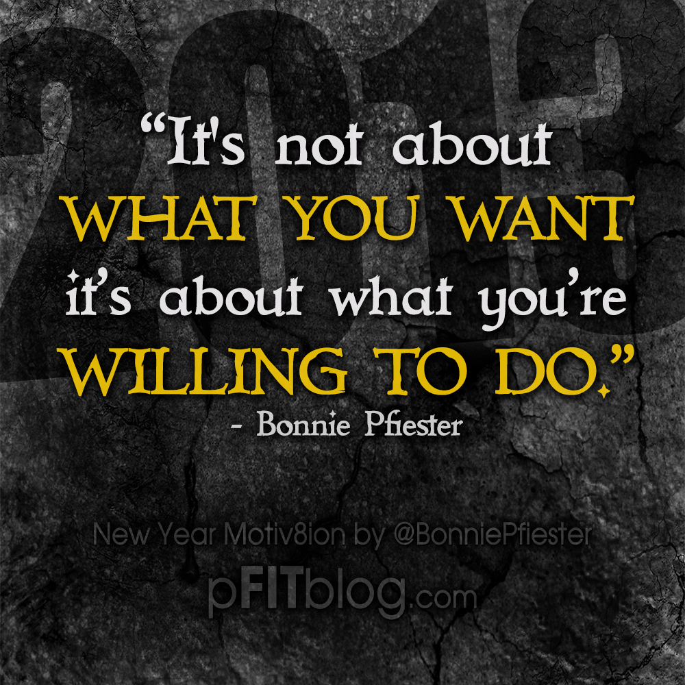 30 Days Of Motivation: How Willing Are You? » PfitBlog
