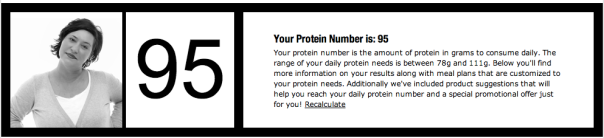 my protein number