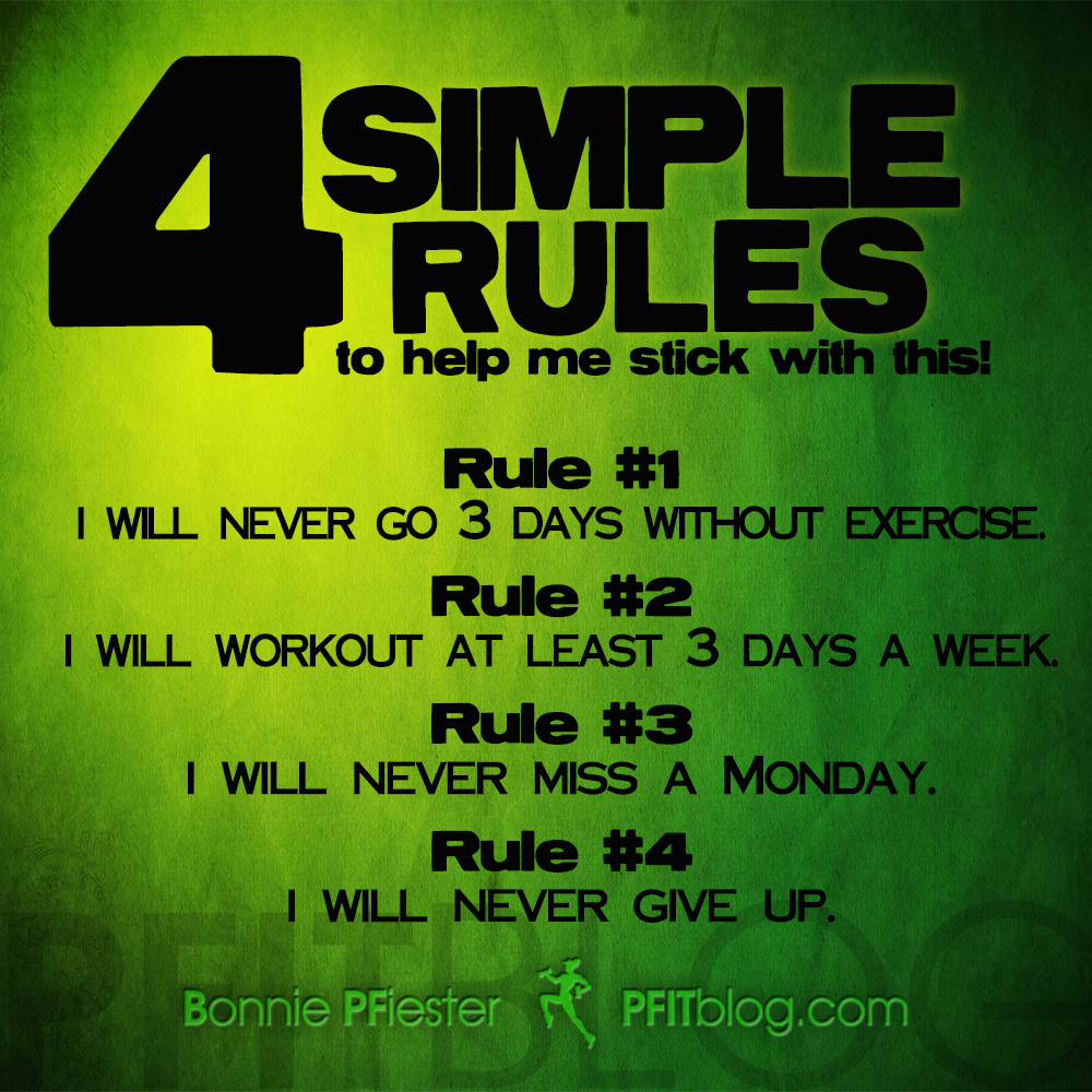 Monday Workout Motivation Quotes: 4-simple-rules1.jpg