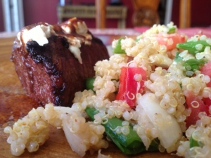 Filet Mignon and Quinoa
