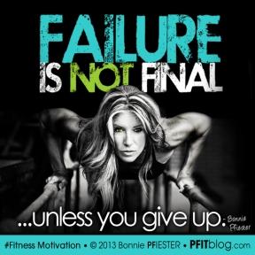 failure is not final