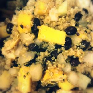 Chicken, Black Bean & Mango Quinoa Salad