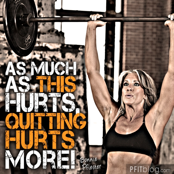 Exercise Hurts, Quitting Hurts More