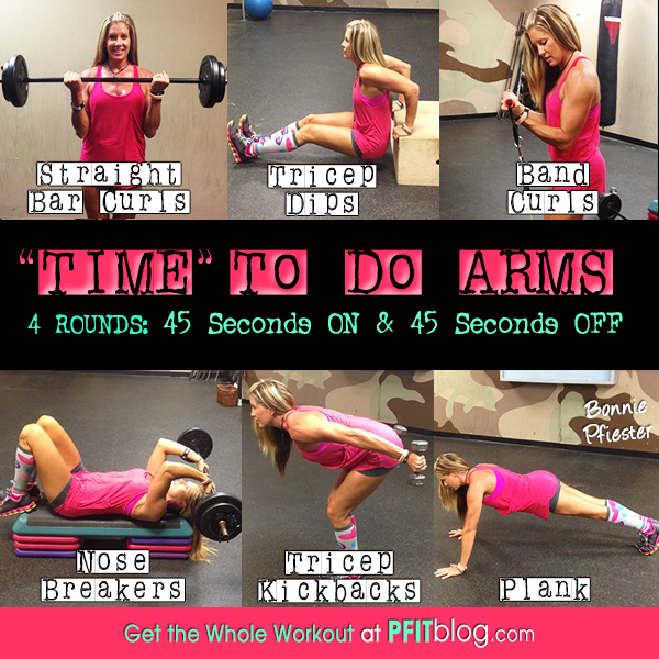 """Time"""" To Do Arms: Timed Bicep & Tricep Workout » PfitBlog"""