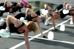 water jug workout