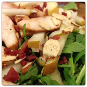 Chicken & Pear Arugula Salad
