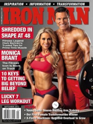 monica brant wearing affitnity on the cover of iron man magazine