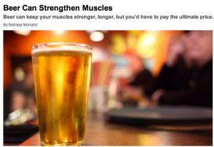 beer develops muscle