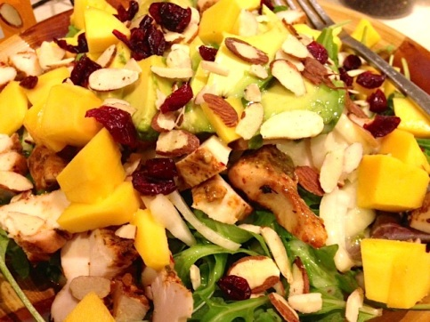 chipotle chicken & mango salad