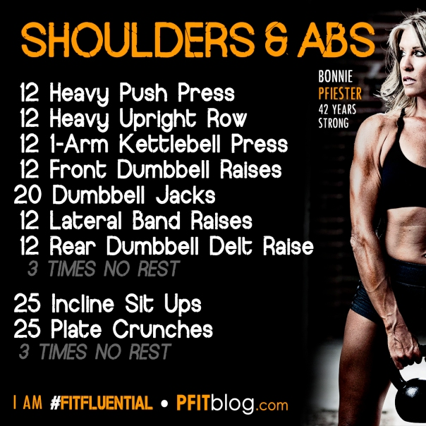 Shoulders and Abs Workout » PfitBlog