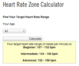 heart rate calculator