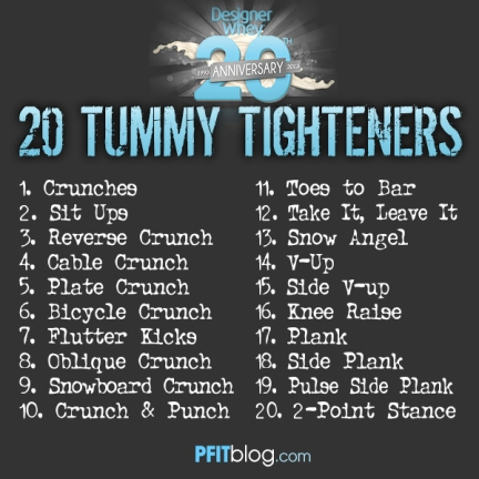 20 TUMMY TIGHTENERS