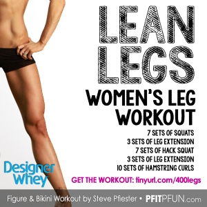 DW lean leg workout