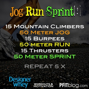jog run sprint workout