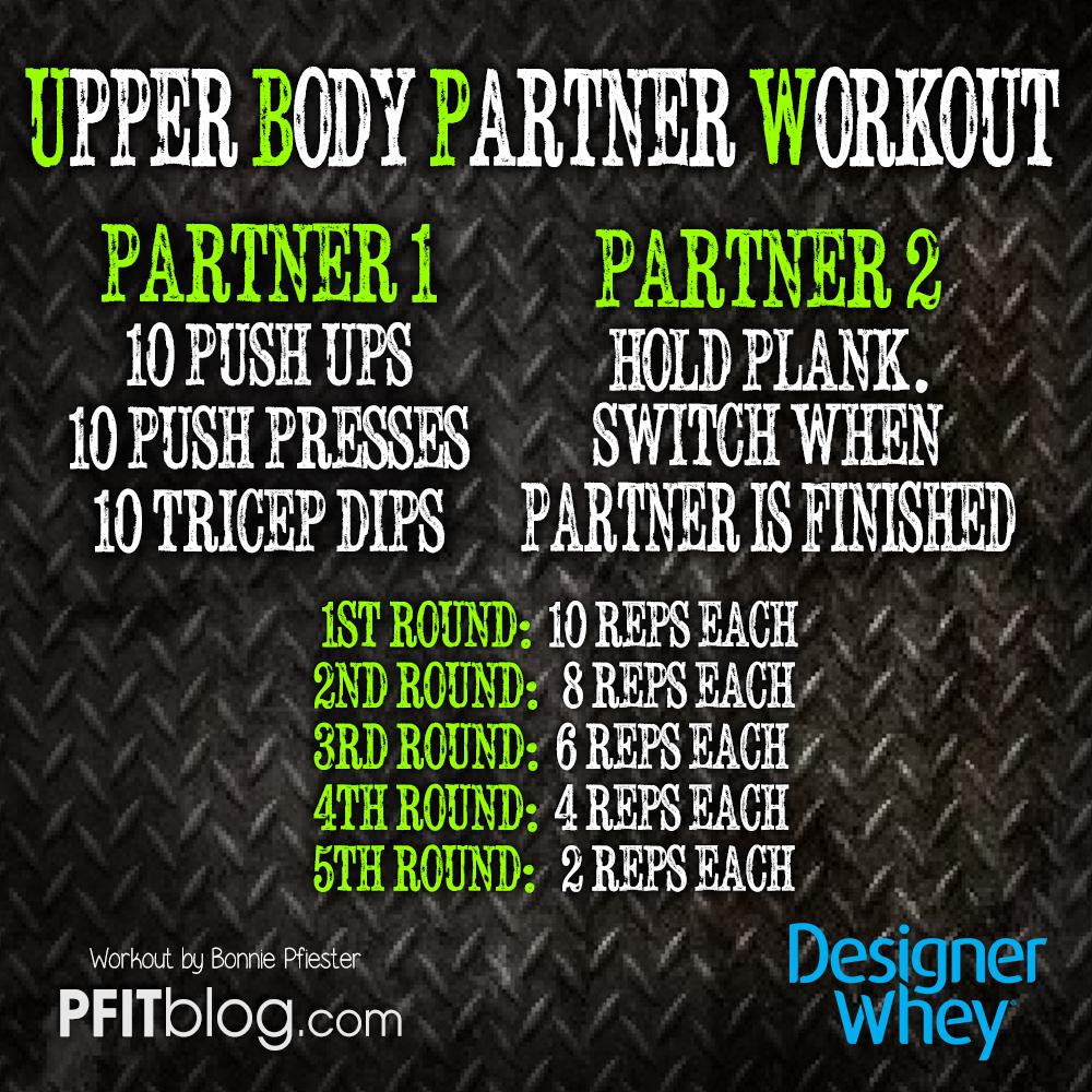 Upper Body Partner Workout » PfitBlog