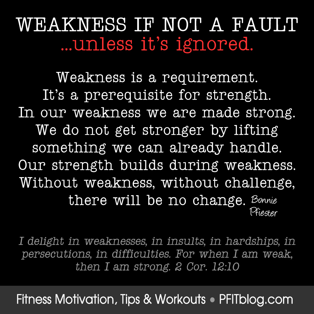 Weakness Is Required » PfitBlog