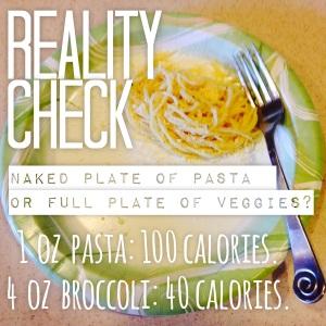 calories in pasta