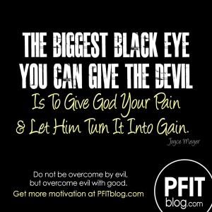 give the devil a black eye