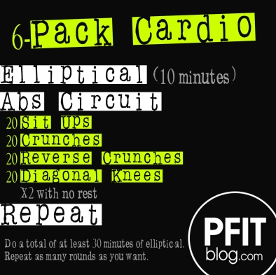 6-pack cardio workout